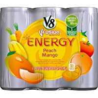 24-Pack V8 +Energy 8-oz. Cans, Peach Mango