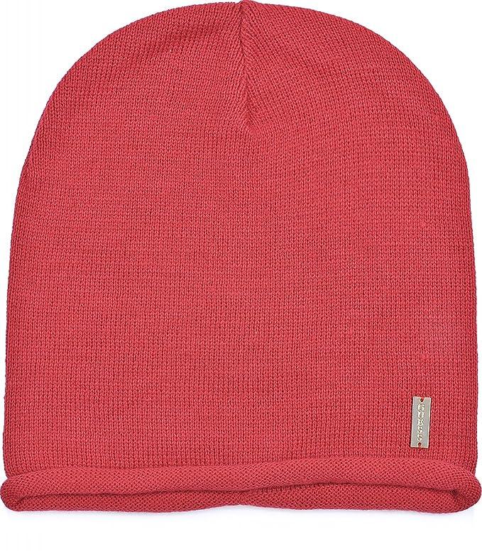 GUESS, mujer gorros, sombreros, gorras, gorro de punto rojo M ...