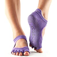 ToeSox Women's Bellarina Half Toe Grip Non-Slip Ballet, Yoga, Pilates Toe Socks