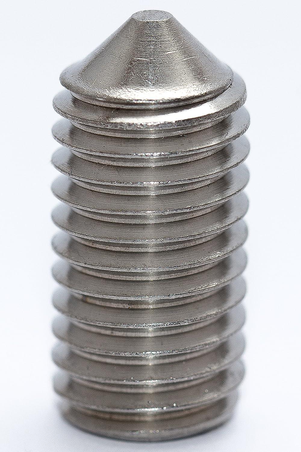 10 St/ück Gewindestifte mit Spitze VA2 Madenschrauben DIN 914 M6x8