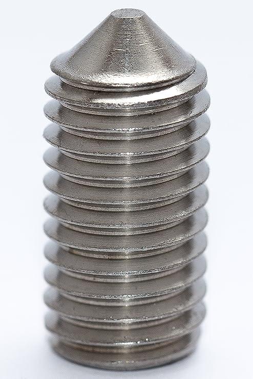 10 Stück M10X16 Gewindestifte DIN 913 Edelstahl A2