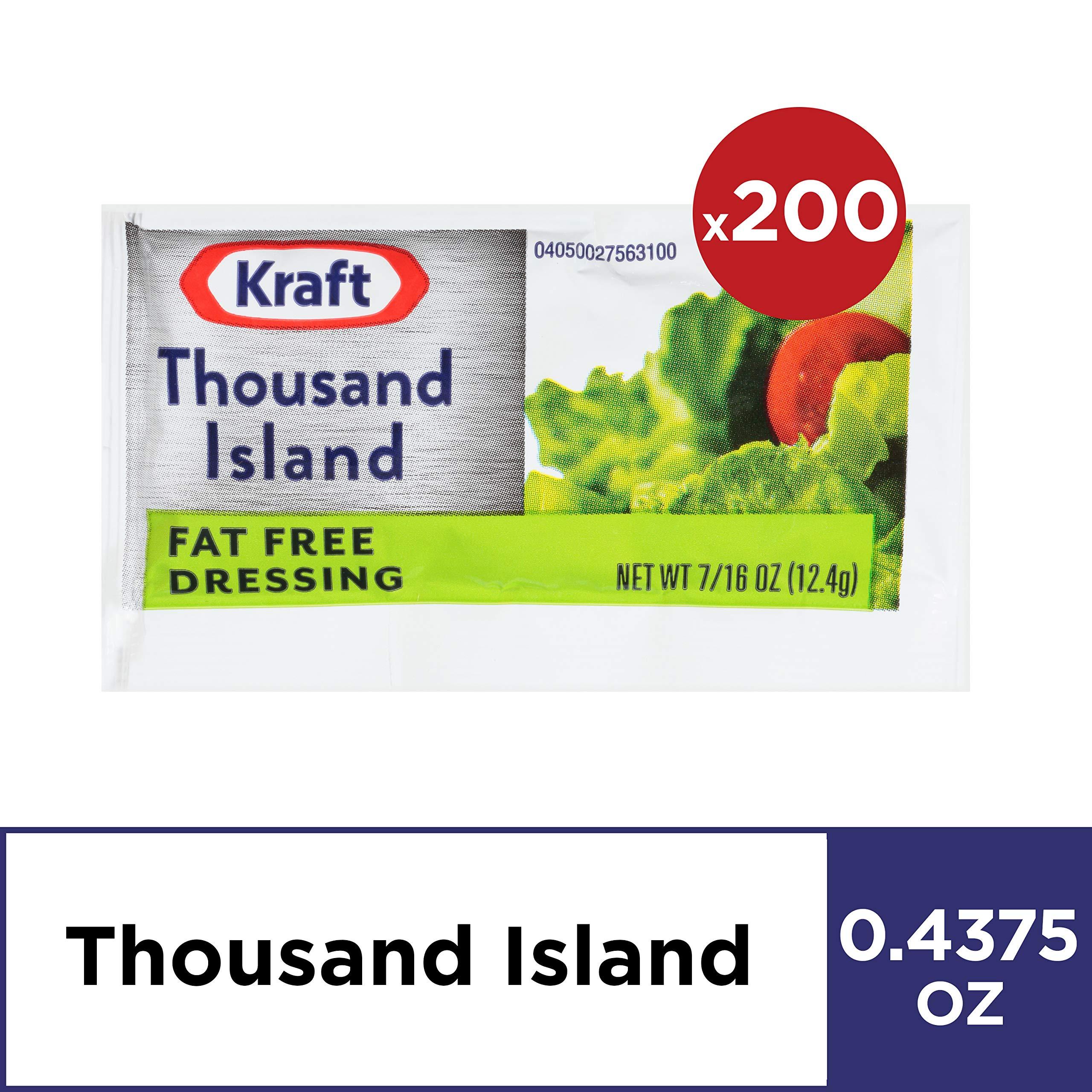 Kraft Thousand Island Salad Dressing (0.4 oz Packets, Pack of 200) by Kraft