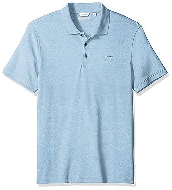 Calvin Klein Hombres 40S8156 Manga Corta Camisa Polo - Gris - XX ...