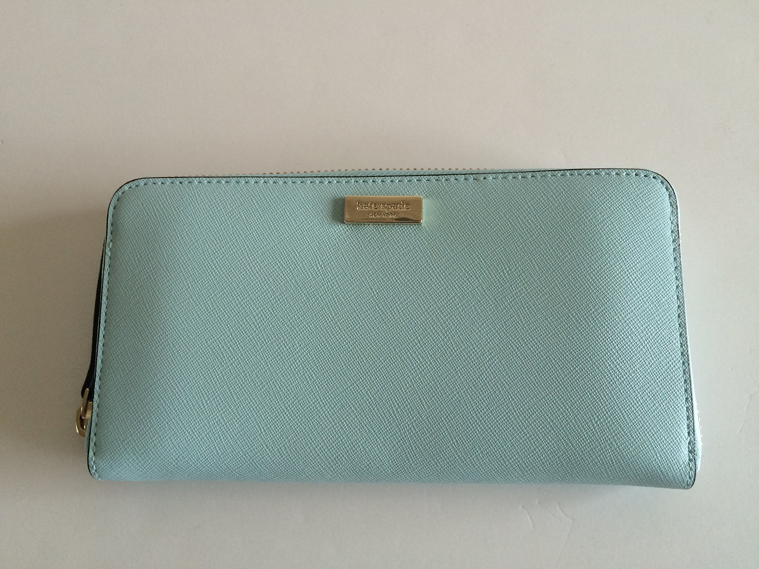 Kate Spade Newbury Lane Neda Leather Wallet (Grace Blue) by Kate Spade New York