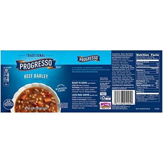 Amazon.com : Progresso Soup, Traditional, Roasted Chicken Primavera Soup, 18.5 oz Cans (Pack of 6) : Packaged Vegetable Soups : Grocery & Gourmet Food