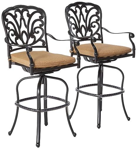 Miraculous Amazon Com Oakland Living Hampton Aluminum Bar Stools Caraccident5 Cool Chair Designs And Ideas Caraccident5Info