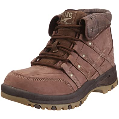 check out bc99f 3503a Amazon.com: Mustang 4015-552 Mens Boots Leather, Brown, Size ...