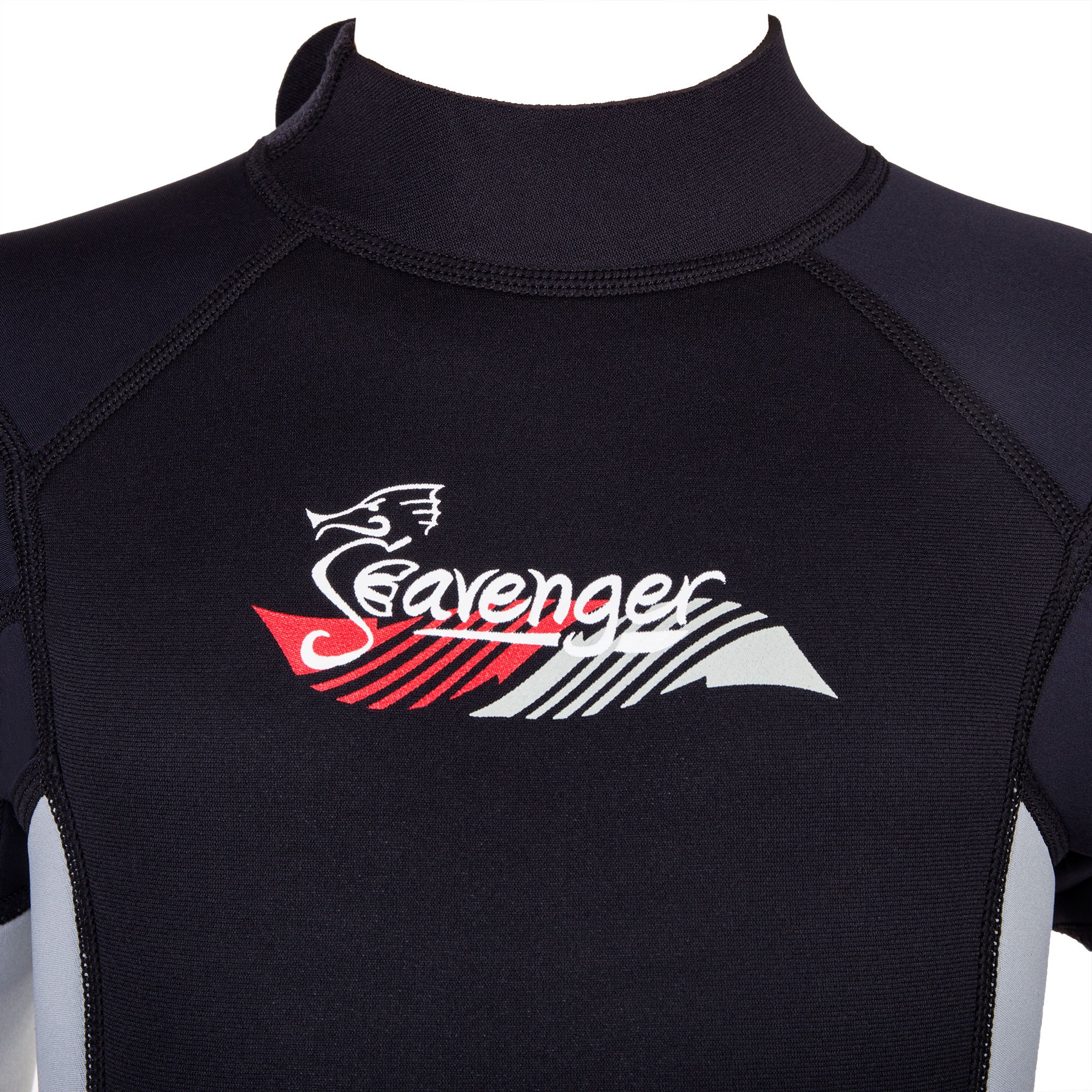 Seavenger Scout 3mm Kids Wetsuit | Full Body Neoprene Suit for Snorkeling, Swimming, Diving (Fire Red, 10) by Seavenger (Image #2)