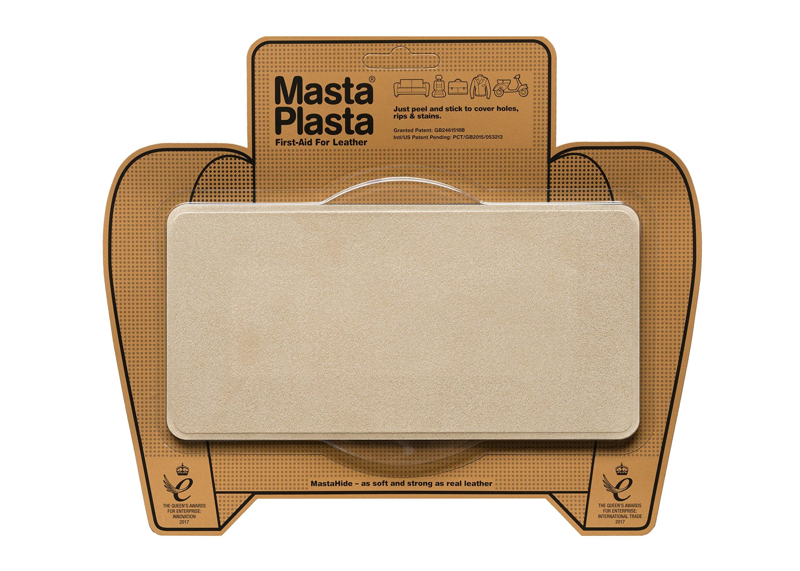 MastaPlasta Self-Adhesive Patch for Leather and Vinyl Repair, Large, Suede, Beige - 8 x 4 Inch by MASTAPLASTA