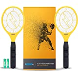 3000 Volt Electric Fly Swatter Mini Bug Zapper Outdoor | Fly Killer Indoor Electric Safe to use on Bugs Inside or…