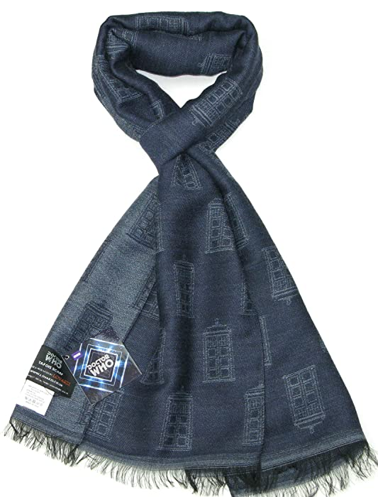 Amazon Tardis Blue Scarf Official Bbc Doctor Who Scarf By