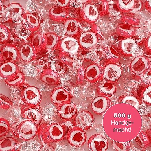 WeddingTree Caramelos Corazón Rojo para Wedding - 500g Caramelos ...