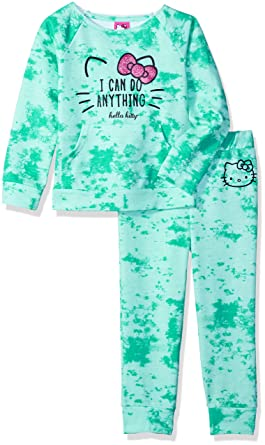 bd5b85e8d Hello Kitty Toddler Girls' Jogger Pant Set with Crew Neck Top, Mint, ...