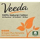Veeda Chemical Free Super Plus assorbenti interni, 16Count by Veeda