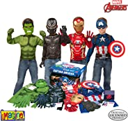 Imagine by Rubie's Marvel Avengers Play Trunk with Iron Man, Captain America, Hulk, Black Panther Costumes/Role Play Amazon E