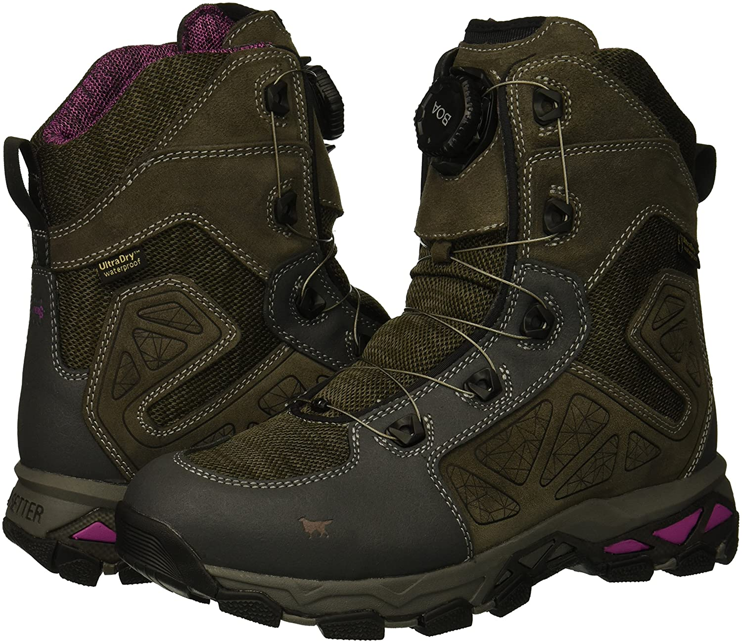 Irish Setter Womens Ravine Hiking Boot Brown//Lilac 7 D US 02893D 070