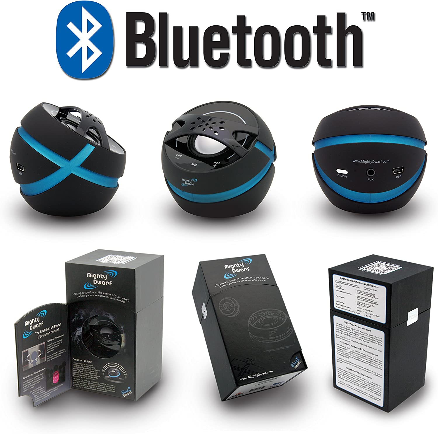 For Indoors or Out Model: BlueII MIGHTY DWARF Portable Bluetooth Speaker