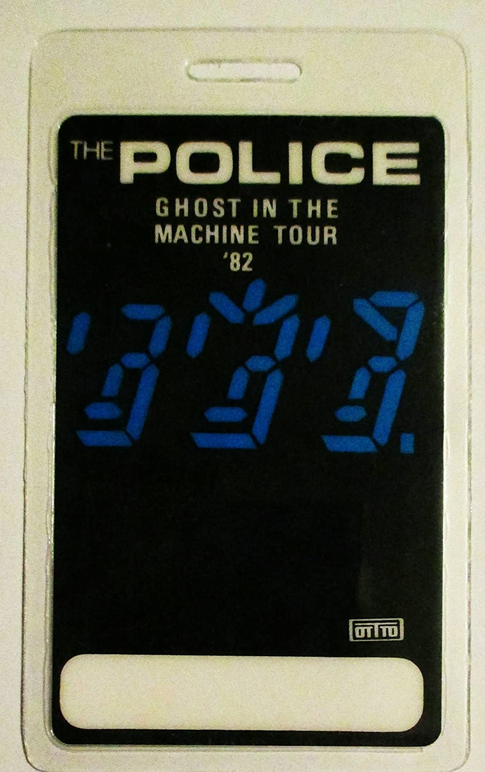 1982 Police Ghost in the Machine Laminated Backstage Pass Sting