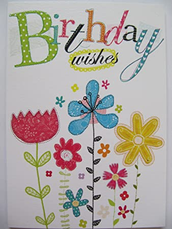 Schöne Bunte Schöne Blumen Geburtstagswünsche Geburtstag Grußkarte