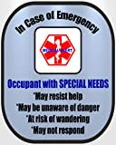 Special Needs Medical Alert Safety Decal Sticker