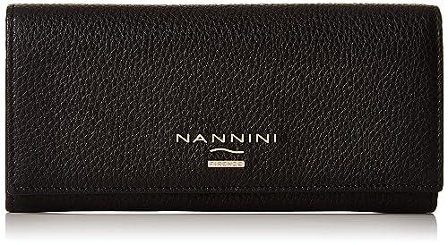 diversificato nella confezione A basso prezzo Regno Unito Nannini Institutional Portamonete, Pelle, Nero, 20 cm ...