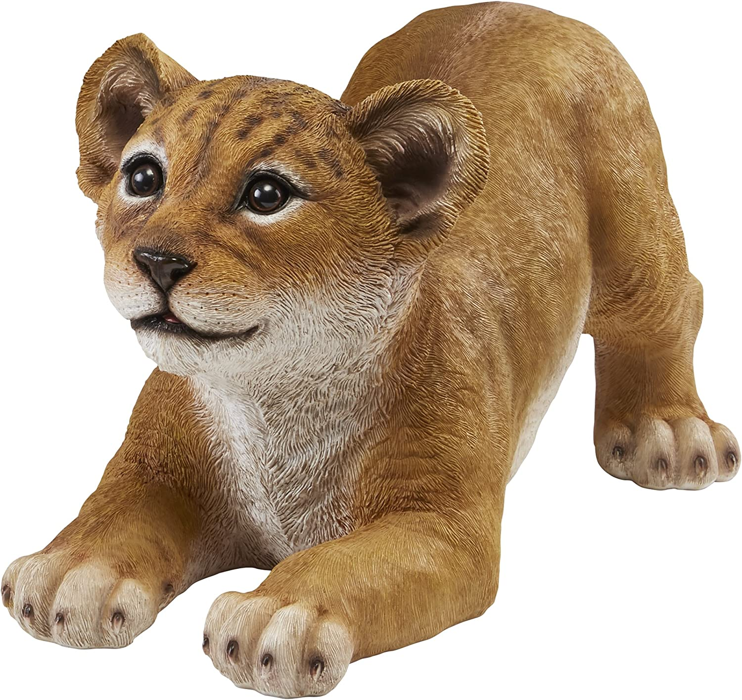 Design Toscano QM28733 Lion Cub of The Sahara Animal Statue: Tibesti, Full Color