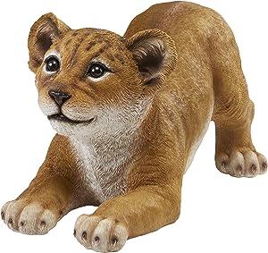 Design Toscano QM28733 Lion Cub of The Sahara Animal Statue: Tibesti, Full Color