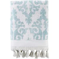SKL Home by Saturday Knight Ltd. Mirage Fringe Bath Towel, Aqua