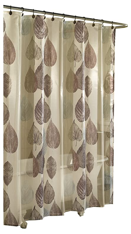 Amazon.com: Ex-Cell Home Fashions Gossamer Leaf Fabric Shower ...