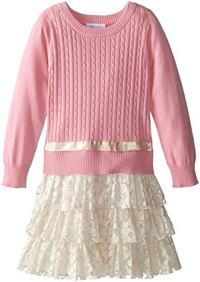 1920s Children Fashions: Girls, Boys, Baby Costumes Sweater and Lace Skirt Dress $39.99 AT vintagedancer.com