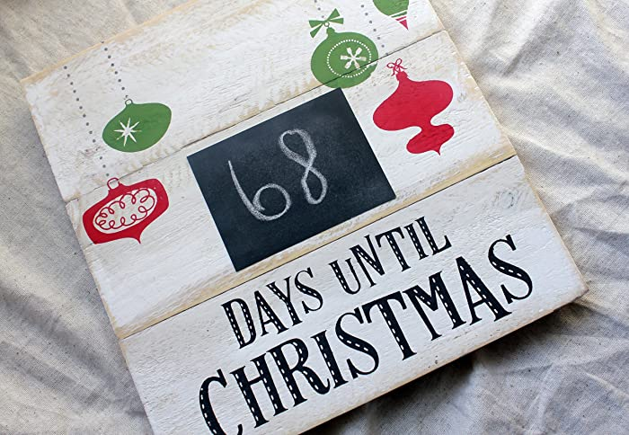 Days Till Christmas Chalkboard.Amazon Com Christmas Countdown Calendar Days Until