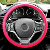 FH Group FH3001MAGENTA Magenta Steering Wheel Cover (Silicone Snake Pattern Massaging grip in Color-Fit Most Car Truck…