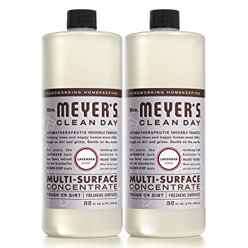 MRS MEYERS Multi-surface Concentrate, Lavender, 32 Fluid Ounce (Pack of 2)