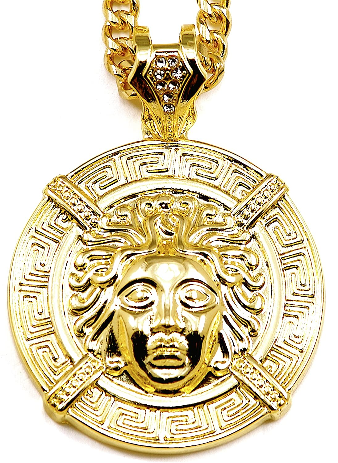medusa necklace products pendant spicyice gold
