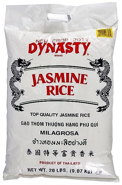 Amazon Com Dynasty Jasmine Rice 20 Pound Dried Jasmine Rice