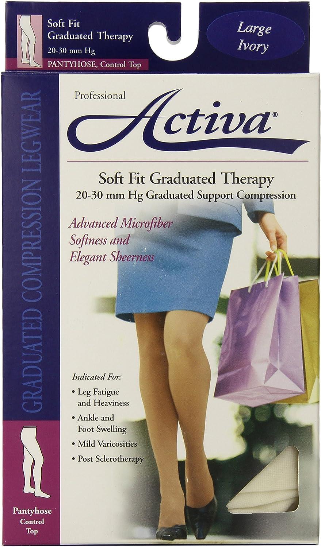 Washington Mall Activa Soft Fit Translated 20-30 mmHg Large Panty Hose Ivory