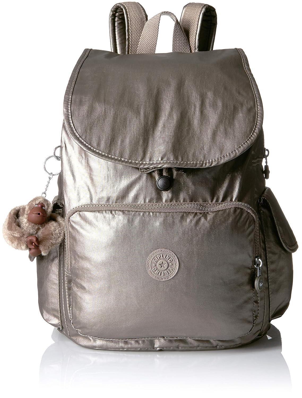 Kipling - City Pack Mochila mediana metálica de peltre Mujer, Plateado (Metálico Pewter), Talla única: Amazon.es: Ropa y accesorios