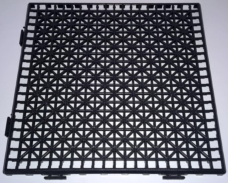 NOVINGRECONS Baldosa PP 30x30cm Negra (Paquete 24 ud.). Suelo ...