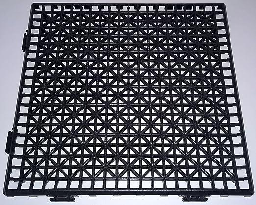 NOVINGRECONS Baldosa PP 30x30cm Negra (Paquete 24 ud.). Suelo Plastico. Suelo Apto para Exteriores o Interiores.: Amazon.es: Jardín