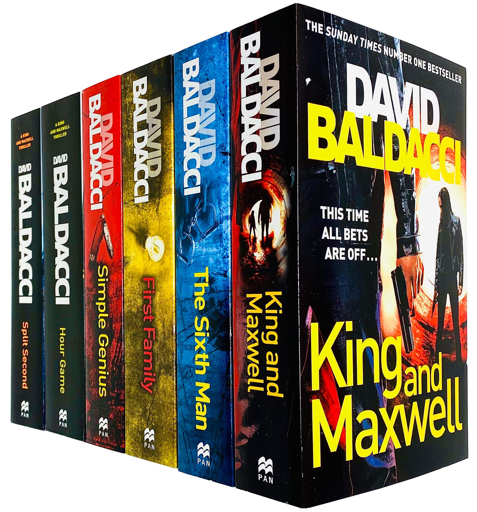 King And Maxwell Series Collection 6 Books Set By David Baldacci Split Second Hour Game Simple Genius First Family Sixth Man King And Maxwell Amazon Co Uk David Baldacci 9789123542628 Books