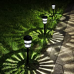 GIGALUMI Solar Pathway Lights Outdoor(12-Pack), Bright LED Solar Garden Lights, Solar Landscape Lights Outdoor Waterproof for Landscapes, Gardens, Pathways, Walkways and Driveways (Cold White)