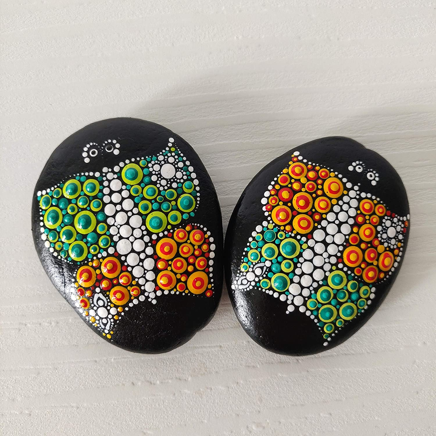dotart painted butterfly dotilism house butterfly decoration rocks garden rocks Painted rocks Butterfly on a Stone butterfly lovers gift
