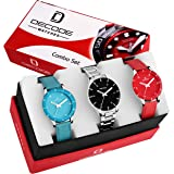 Decode Multi Color Analogue Dial Combo Of 3 Watch (Wx605) For Girls/Women