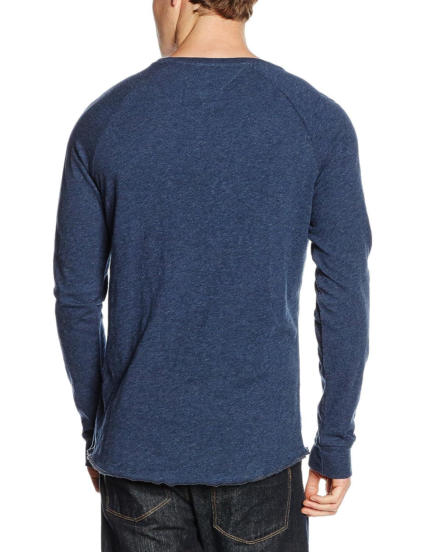 Hilfiger Denim Herren Langarmshirt Thdm CN Knit L/S 9, Blau (Dark Navy  Heather 093), Small: Amazon.de: Bekleidung