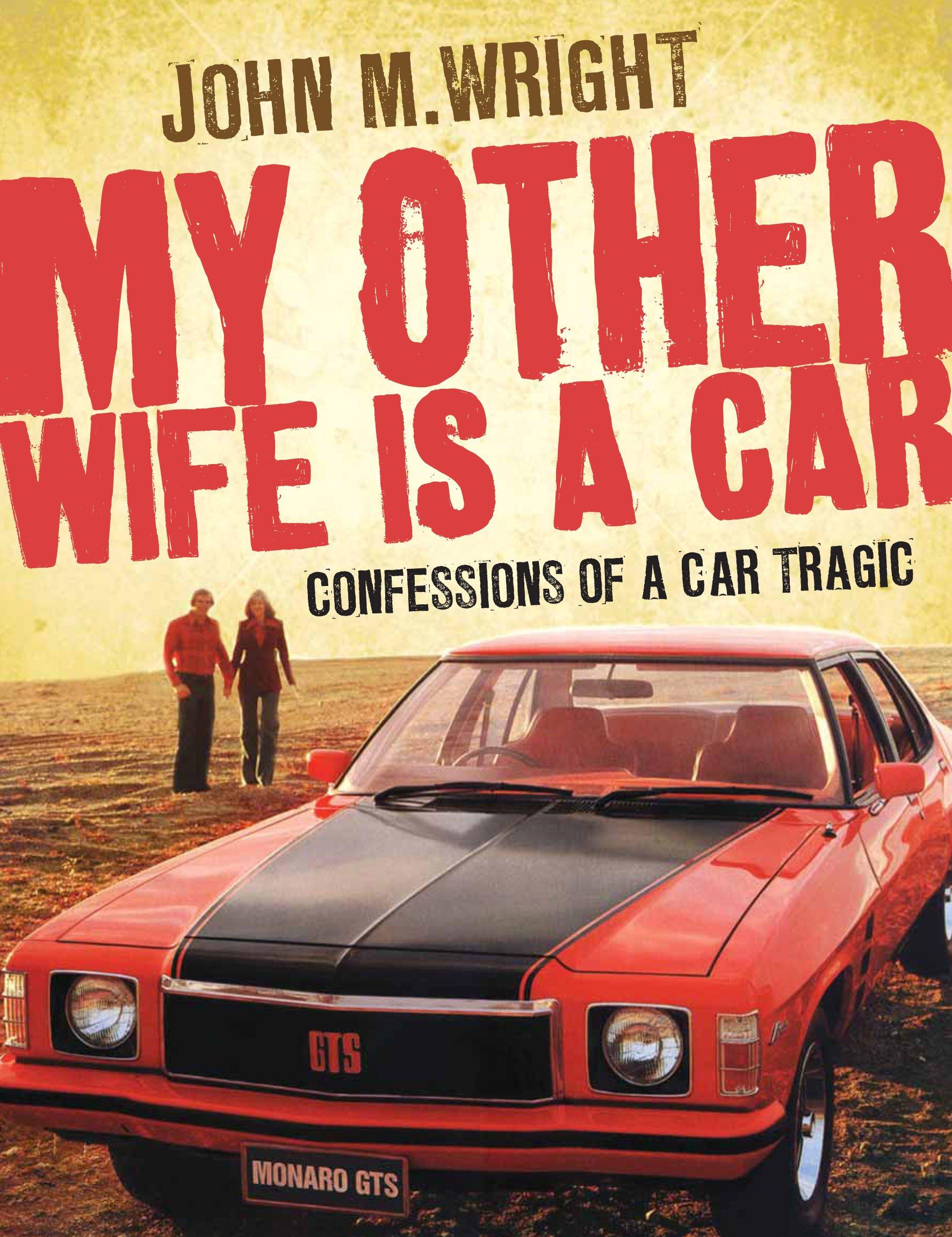 Wife on car hood was