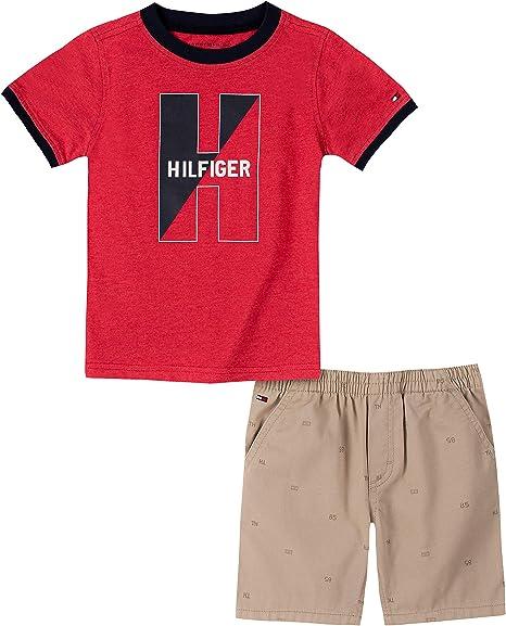 Tommy Hilfiger Juego De Pantalones Cortos Para Nino 2 Piezas Rojo 2 Anos Amazon Com Mx Ropa Zapatos Y Accesorios
