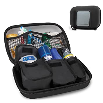 USA Gear Toiletry Travel Bag Organizer Kit with Customizable Storage  Pockets   Protective Hard Shell Perfect 9725a838e0006