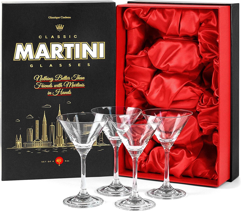 4 St/ück 4 St/ück Kleine Martini-Gl/äser mit langem Stiel