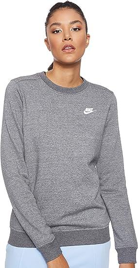 Nike W NSW Club Crew FLC T Shirt à Manches Longues Femme