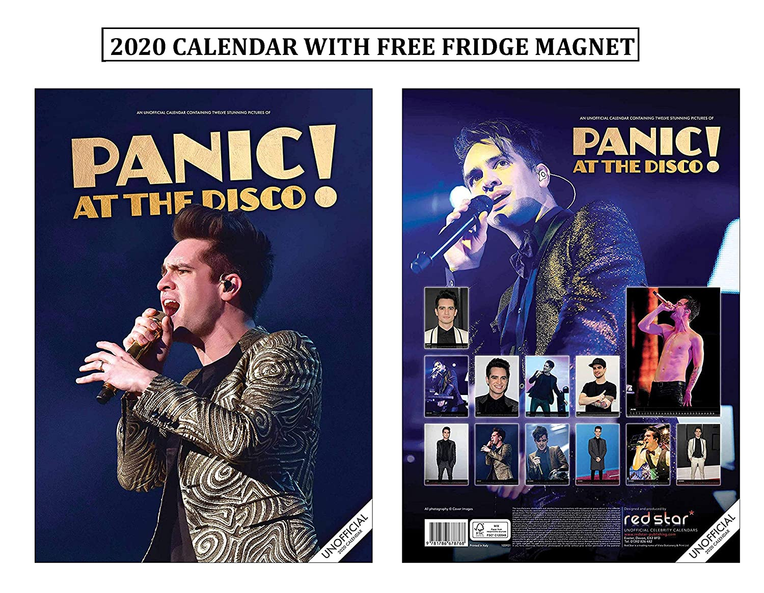 Panic At the Disco Calendario 2020 With Panic At the Disco Imán ...